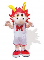 Red Chinese Dragon Mascot Costume for Adult