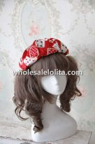 INFANTA Poker Series Lolita Hat Blue/Red