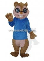 Blue Cloth Chipmunk Squirrel Mascot Costume