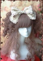 Beige Big Bow Sleeping Beauty Lolita HeadBow