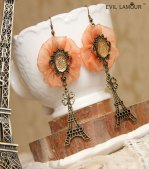 Iron Tower and Flower Gothic Lolita Earrings