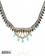 Vintage Gothic Lace Pendant Necklace with Rhinestone for Prom