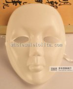 Budget Blank White Cartoon Carnival Full Face Masquerade Mask