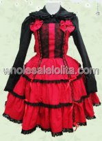 Red And Black Cotton Multilayer Lolita Dress