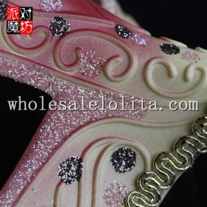 Party Glitter Half Face Masquerade Mask with Braiding