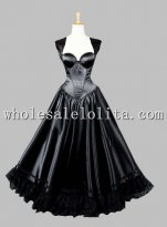 Gothic Black Sleeveless Princess Dress Victorian Inspired Dress