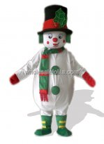 White Snowman Plush Mascot Costume