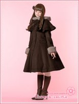 Hot Sale Brown Wool Hooded Sweet Lolita Coat