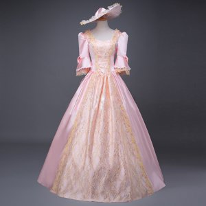 Southern Belle Ball Gown Dress Reenactment Clothing Medieval Marie Antoinette Princess Costume