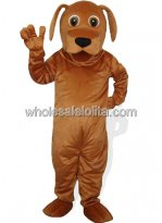 Adult Brown Dog Mascot Costume