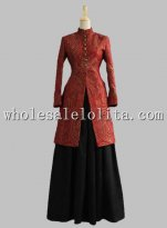 Victorian Edwardian Ladies Frock Coat Dress Old West Jacket Reenactment