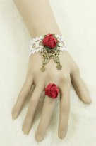Gothic Red Rose Lace Lolita Bracelet MTB35
