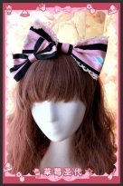 Strawberry Sundae Double Bow Lolita Headwear