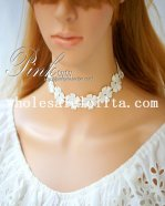 Fashion Bride/Bridesmaid Collar Choker White Flower Necklace