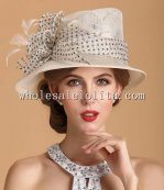2014 New British Style Elegant Ladies Big Brim Hat
