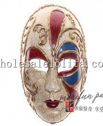 Full Face Pierrot Masquerade Mime Masks