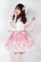 Alice Princess Pink Sweet Print SK Lolita Skirt