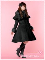 Hot Sale Cyan Wool Hooded Sweet Lolita Coat