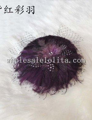 Fashion Wool Feather & Mesh British Ladies Hat