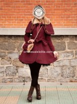 Brand New Burgundy Wool Winter Sweet Coat