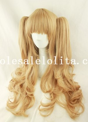 Women's Japan Cosplay Cute Long Anime Pigtails Wig