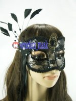 Transparent Black Lace Halloween Masquerade Mask