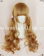 Harajuku Golden Brown 70cm Long Wavy Lolita Wig Cosplay Wig