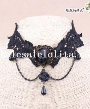 Hotsale Gothic Black Lace Collar Choker Necklace Pendant