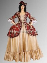 16/17th Century Renaissance Baroque or Medieval Dress Gown in Taffeta, Multiple Colors Available