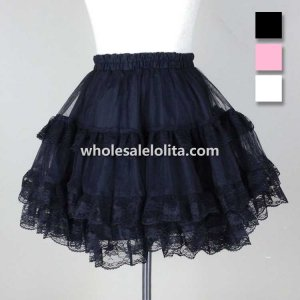 3 Colors Available Lace Trim Lolita Petticoat