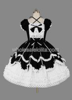 Well Made Black and White Gothic Lolita Dress