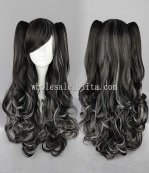 Japanese Harajuku Lolita Wig Four Color Long Dual Horsetail Hair