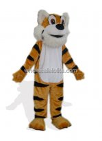 Orange Tiger Plush Mascot Costume