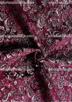 High-grade Tapestry Royal Gorgeous Purple and White Flower Brocade Fabric