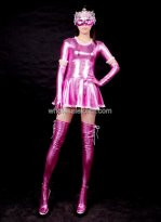 Purple Shiny Metalic Catsuit