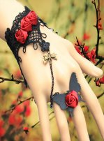 Gothic Royal Butterfly Rose Bracelet with Ring