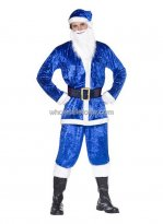 Blue Santa Claus Outfit for Men