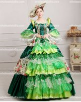 Vintage Marie Antoinette Inspired Prom Dress Wedding Quinceanera Ball Gown GREEN