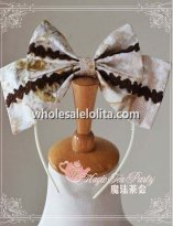 Magic Tea Part VERONICA Elegant Printing KC Lolita Headbow
