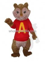 Red Cloth Chipmunk Squirrel Mascot Costume