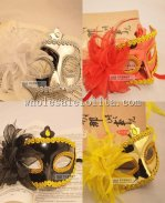 Braided Party Half Face Masquerade Mask with Flower for Adult and Child