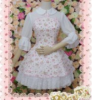 Half Sleeves Fack Two-pieces Ruffled Floral Classic Lolita Dress