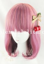 Japan Harajuku 45CM Mix-colored BOBO Wig for Girls