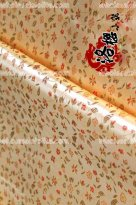 LY Floral Brocade Fabric LightGold