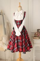 Versailles Rose Vintage Gothic Style Plaid Dress