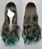 New Harajuku/Japanese Black Lolita Wigs Lolita Temperament Long Curly Hair