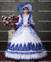 Victorian Gothic Fairy Princess Brocade Ball Gown Period Dress Reenactment Theater Clothing