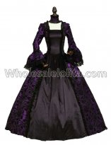 Purple Georgian Victorian Gothic Period Dress Masquerade Ball Gown Reenactment Theatre Costume
