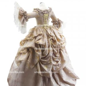 Top Sale Georgian Period Dress 18th Century Marie Antoinette Stain Masquerade Ball Gown Party Dresses