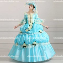 18th Century Rococo Style Marie Antoinette Inspired Prom Dress Wedding Ball Gown Sky Blue